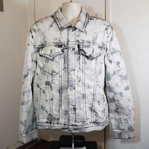 Rock Revival Mens White & Black Button Jacket 2XL